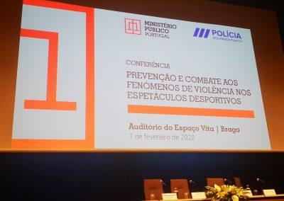 Conferência Prevenção e Combate aos fenómenos de violência nos espectáculos desportivos, BRAGA
